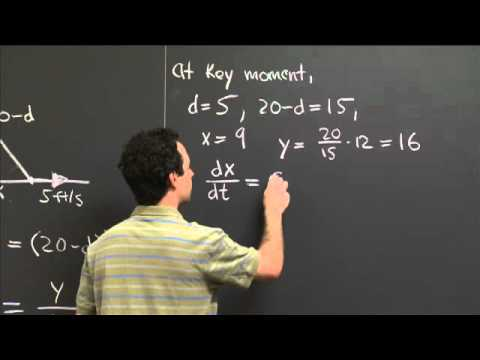 Related rates 2 | MIT 18.01SC Single Variable Calculus, Fall 2010
