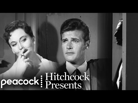 """Roger Moore in """"The Avon Emeralds""""   Hitchcock Presents"""