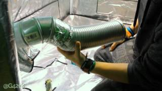 s6 Installing 4 inch Active Air Inline Fan by Grow420Guide