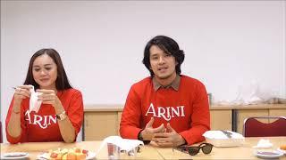Morgan Oey Nyanyikan Soundtrack Film Arini di kantor Redaksi Tribunnews