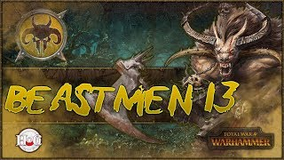 """Total War Warhammer - Beastmen Campaign - 13Time to erase some settlements from the old world. Enjoy!MSI:https://us.msi.com/#DragonSquadLike my new Channel branding? Check out https://twitter.com/hforhavocSomething stirs in the deep dark forests of The Old World. Between the twisted trunks, the Beastlords grow restless with an all-consuming battle-thirst. They gather to them great Warherds of barbarous, bestial fiends, forged in the Time of Chaos; dark amalgams of human intelligence, animal cunning and raw, reckless ferocity. http://store.steampowered.com/app/404012/""""Our rules have changed. The only constant is WAR!The Old World echoes to the clamour of ceaseless battle… A fantasy strategy game of legendary proportions, Total War: WARHAMMER combines an addictive turn-based campaign of epic empire-building with explosive, colossal, real-time battles, set in the brooding and bloody world of Warhammer Fantasy Battles.Command four wholly different races: the Empire, the Dwarfs, the Vampire Counts and the Greenskins, each with their own unique characters, battlefield units and play style.Lead your forces to war as one of eight Legendary Lords from the Warhammer Fantasy Battles World, arming them with fabled weapons, armour and deadly battle magic; hard-won in individual quest chains.For the first time in a Total War game, harness storms of magical power to aid you in battle and take to the skies with flying creatures, from ferocious dragons and wyverns to gigantic griffons.Hundreds of hours of gameplay await you at the dawn of a new era. Total War: WARHAMMER brings to life a world of legendary heroes, towering monsters, flying creatures, storms of magical power and regiments of nightmarish warriors.""""Thank you to Sega and Creative Assembly for allowing me to have a review copy and post this video. For official news and videos please see the links below. This video doesn't represent any official news or opinions. Official Website:https://www.totalwar.com/Total War YouTube """