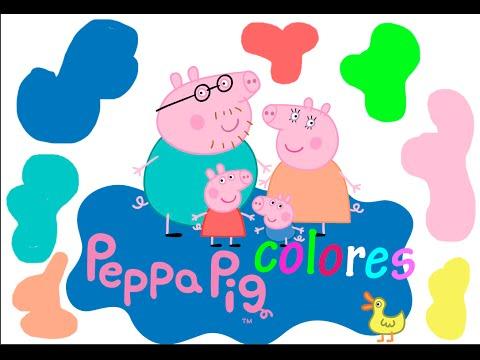 Aprendiendo los colores con Peppa Pig en español - video educativo para niños