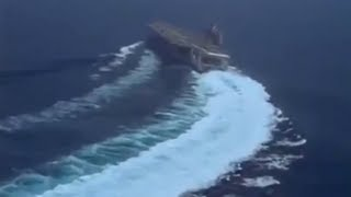 CVN-75 USS Harry S. Truman High Speed Turn - YouTube