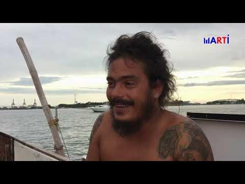 Cubano viaja en velero desde España  para ver a su familia en Miami (VIDEO)