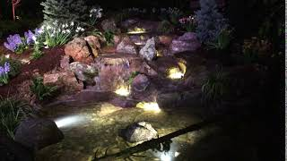 Custom LED Lighted Waterfall Feature