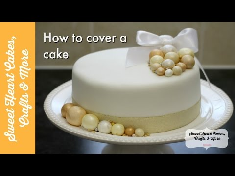 Cover a cake with Marzipan & Fondant - How to decorate a fruit cake tutorial