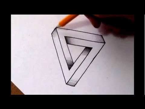 How To Draw The Impossible Triangle - Optical Illusion