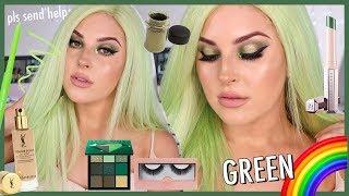 GREEN Makeup Tutorial 🐊🌈 RAINBOW SERIES by Shaaanxo