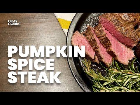 PUMPKIN SPICE FILET MIGNON | Fall 2020 Recipe | OKAY COOKS