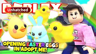 Opening NEW EASTER EGGS in Adopt Me! NEW Adopt Me Egg Hunt Update (Roblox)
