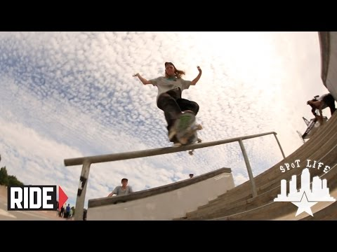 bowl - Courtesy of Volcom, Damn Am has a new home in Cascias, Portugal. An amazing outdoor skatepark on the coastline of the Atlantic Ocean. An international gather...