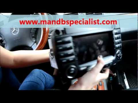 How to Remove Mercedes Comand Radio Unit for Repair