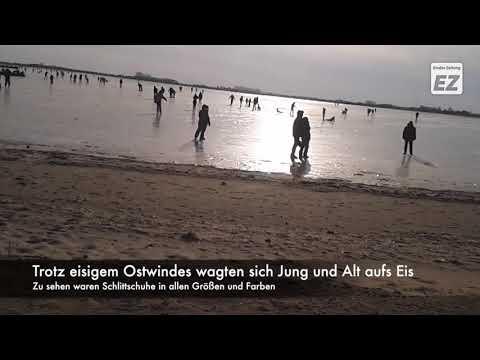 Schöfeln (Eislaufen) am Großen Meer
