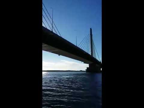 Homem pula com corda em Ponte Anita Garibaldi de Laguna - Repórter Sul