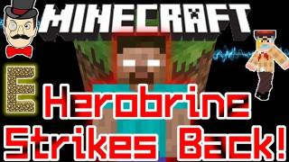 Minecraft HEROBRINE Strikes Back! He's Watching You in 1.0.0 - Campfire Sighting!
