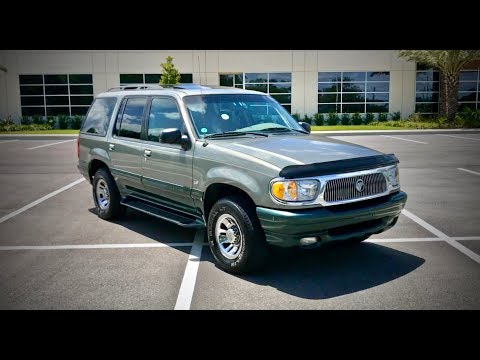 1999 Mercury Mountaineer 5.0L V8 Review and Test Drive (видео)