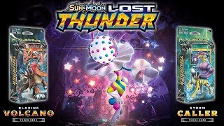 Pokémon TCG Lost Thunder: Blazing Volcano/Storm Caller Theme Decks and Booster Pack Opening by Ace Trainer Liam