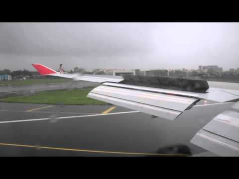 Video Air India Boeing 747-400 landing and arrival into Mumbai download in MP3, 3GP, MP4, WEBM, AVI, FLV January 2017