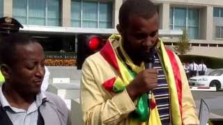 Ethiopians In Washington DC Protest Against Ethiopian Government At The White House And State Dpt.