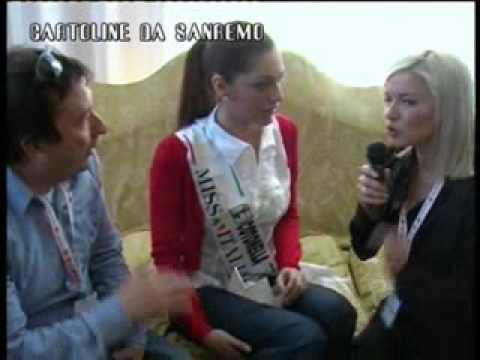 Cartoline da Sanremo - intervista a Miss Italia