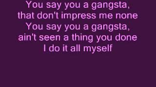 Kat Dahlia-Gangsta Lyrics
