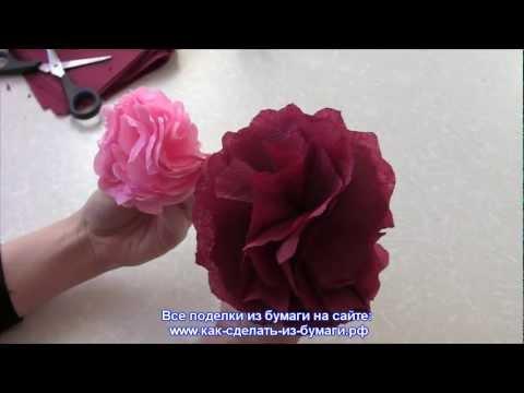 Как сделать розу из салфетки за 1 мин? Видео
