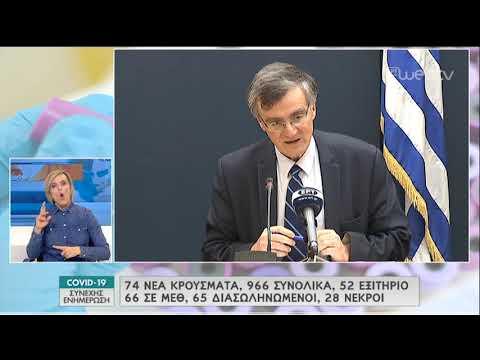 H ενημέρωση του υπ. υγείας για την πανδημία του κορονοϊού   27/03/2020   ΕΡΤ