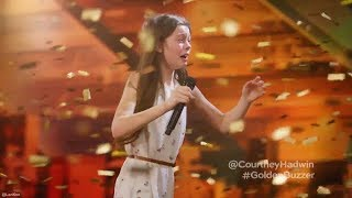 Video 13 Year Old Singing Like a Lion Earns Howie's Golden Buzzer America's Got Talent MP3, 3GP, MP4, WEBM, AVI, FLV September 2018