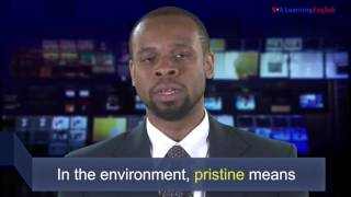 If something in the environment is pristine, what does that mean? Learn the answer with Anne Ball and Jonathan Evans in VOA's News Words.