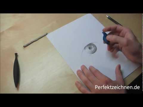 Genial ★ Augen Zeichnen Lernen Online Pupille Iris wunderschön zeichnen
