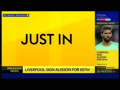 CONFIRMED: Liverpool Sign Alisson Becker From AS Roma For £67m