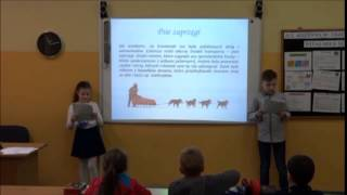 I część lekcji w klasie 3a realizowanej w ramach projektu Szkoła z Klasą- uczymy innych. W lekcji uczestniczą aktywnie uczniowie i rodzice: państwo Kim i ...
