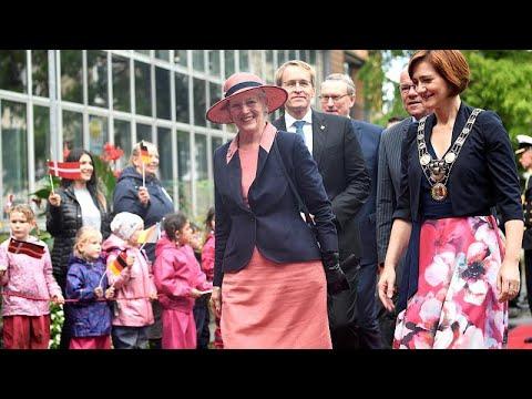 Hundertjahrfeier: Königin Margrethe zu Besuch in Schl ...