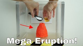 Vinegar Plus Baking Soda Volcano Eruption in a Vacuum Chamber