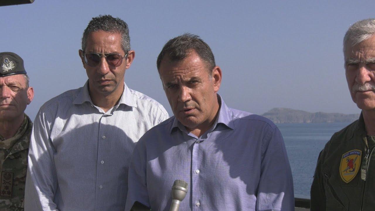 """Δηλώσεις ΥΕΘΑ Ν. Παναγιωτόπουλου και ΥΠΑΜ Κύπρου Σ. Αγγελίδη στην άσκηση """"ΜΕΔΟΥΣΑ 9"""""""