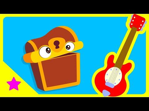 Galinha Pintadinha Mini - Atividade Baú Biruta - Guitarra