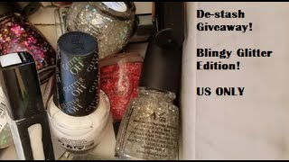 I'm giving away 16 glitter polishes from different brands and including the following polishes for bases: OPI Glitter Off! Peel Off Base Coat China Glaze Liq...