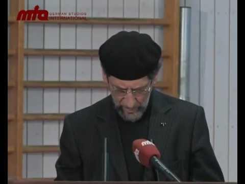 Besondere Freitagsansprache in Ehren von Hadayatullah Hübsch