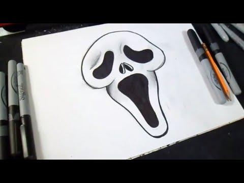 wie zu zeichnen Gesicht (Schrei) Graffiti