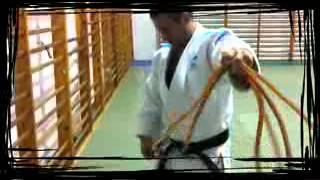 Demostración de traballo con gomas dirixido ao Judo a cargo do técnico da Federación Galega de Judo Roberto Naveira