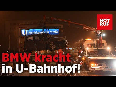 Illegales Autorennen in Berlin-Wedding – BMW kracht in U-Bahnhof