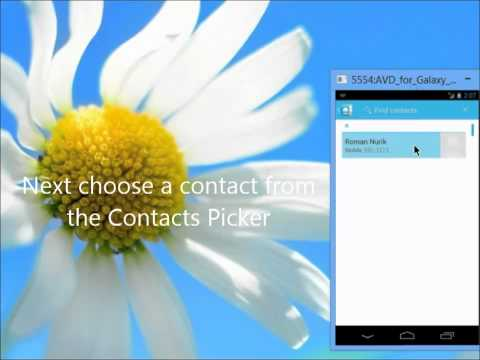 Video of DashClock Contact Extension