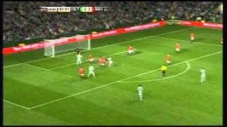 Henrik Larssons Hattrick gegen Manchester United