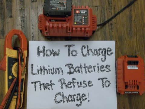 , title : 'How to charge Porter Cable 20V Lithium Batterys that wont charge! Easy!'