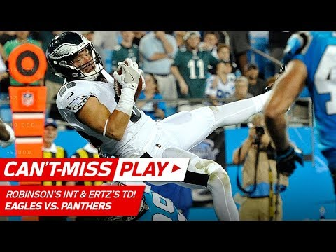 Video: Robinson's Crazy INT Sets Up Ertz's 2nd TD Catch of the Night! | Can't-Miss Play | NFL Wk 6