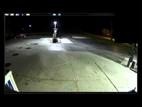 Surveillance video of the Random Lake MSM Mini Mart robbery suspect, captured on August 21, 2013