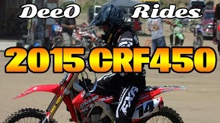 4. DeeO Rides a 2015 Honda CRF450 Factory Dirtbike | Aztec Raceway