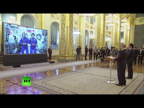 Путин и Абэ проводят сеанс связи с МКС