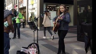 St. Patricks Day 2019 @ Dublin Ireland & See Allie Sherlock Busking on Grafton Street