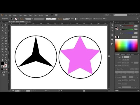 How To Find The Center Of A Star In Adobe Illustrator